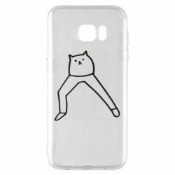 Чохол для Samsung S7 EDGE Cat in pants