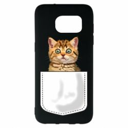 Чехол для Samsung S7 EDGE Cat in your pocket