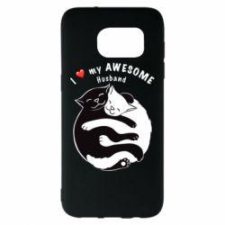 Чехол для Samsung S7 EDGE Cats and love