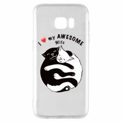 Чехол для Samsung S7 EDGE Cats with a smile