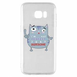 Чехол для Samsung S7 EDGE Cute cat and text