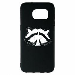 Чохол для Samsung S7 EDGE Cute raccoon face