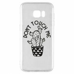 Чехол для Samsung S7 EDGE Don't touch me cactus