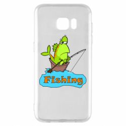 Чехол для Samsung S7 EDGE Fish Fishing