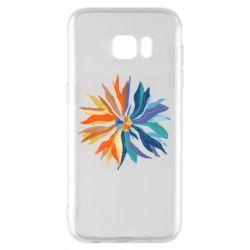 Чохол для Samsung S7 EDGE Flower coat of arms of Ukraine