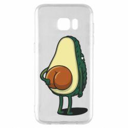 Чохол для Samsung S7 EDGE Funny avocado