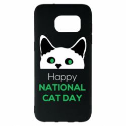 Чехол для Samsung S7 EDGE Happy National Cat Day