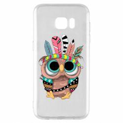 Чохол для Samsung S7 EDGE Little owl with feathers