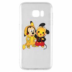 Чехол для Samsung S7 EDGE Mickey and Pikachu