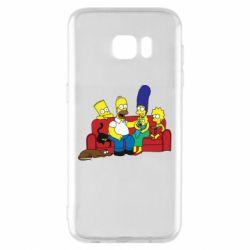 Чехол для Samsung S7 EDGE Simpsons At Home
