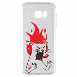 Чохол для Samsung S7 EDGE The cat is mad