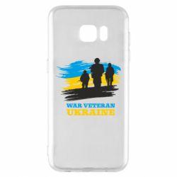 Чохол для Samsung S7 EDGE War veteran оf Ukraine