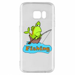 Чехол для Samsung S7 Fish Fishing