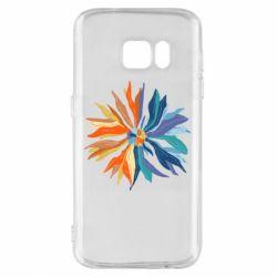 Чохол для Samsung S7 Flower coat of arms of Ukraine