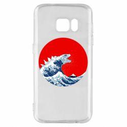 Чохол для Samsung S7 Godzilla Wave