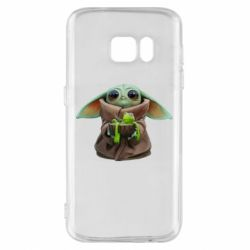 Чохол для Samsung S7 Grogu and Kermit