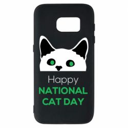 Чехол для Samsung S7 Happy National Cat Day