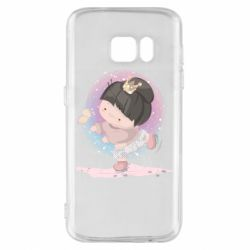 Чехол для Samsung S7 Little princess and butterfly