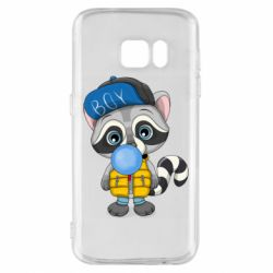 Чехол для Samsung S7 Little raccoon
