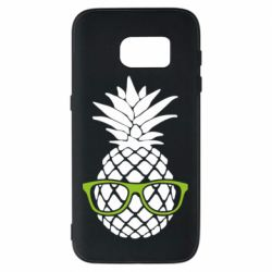 Чехол для Samsung S7 Pineapple with glasses