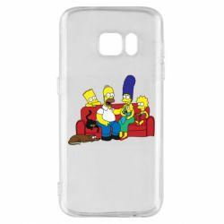 Чехол для Samsung S7 Simpsons At Home