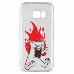 Чохол для Samsung S7 The cat is mad