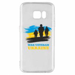 Чохол для Samsung S7 War veteran оf Ukraine