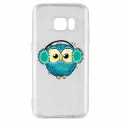 Чехол для Samsung S7 Winter owl