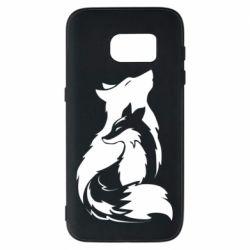 Чехол для Samsung S7 Wolf And Fox