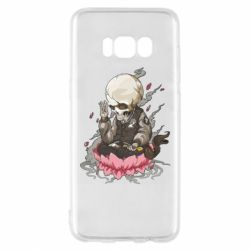 Чехол для Samsung S8 A skeleton sitting on a lotus