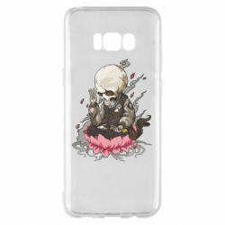Чехол для Samsung S8+ A skeleton sitting on a lotus