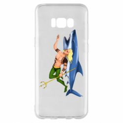 Чехол для Samsung S8+ Aquaman with a shark