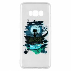 Чехол для Samsung S8 Black cat art