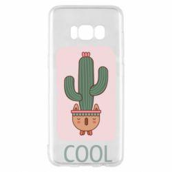 Чехол для Samsung S8 Cactus art