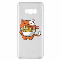 Чохол для Samsung S8+ Cat and Ramen