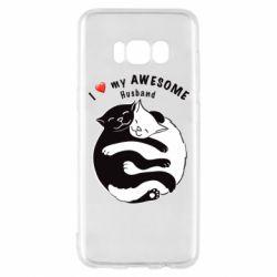 Чехол для Samsung S8 Cats and love