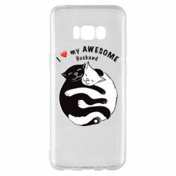 Чехол для Samsung S8+ Cats and love