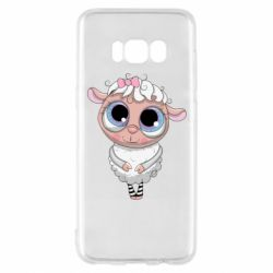 Чехол для Samsung S8 Cute lamb with big eyes