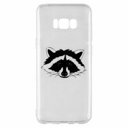 Чохол для Samsung S8+ Cute raccoon face