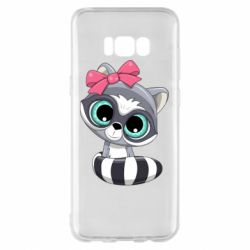 Чехол для Samsung S8+ Cute raccoon