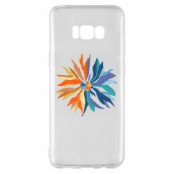 Чохол для Samsung S8+ Flower coat of arms of Ukraine