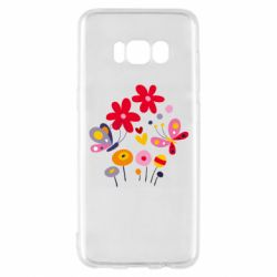 Чехол для Samsung S8 Flowers and Butterflies