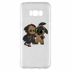 Чехол для Samsung S8+ Groot And Toothless