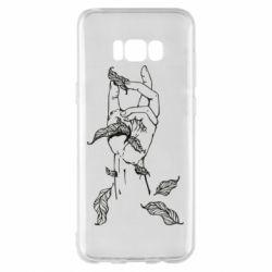 Чохол для Samsung S8+ Hand with leafs