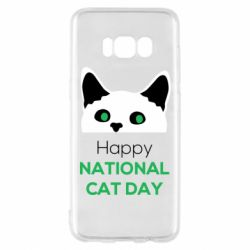 Чехол для Samsung S8 Happy National Cat Day