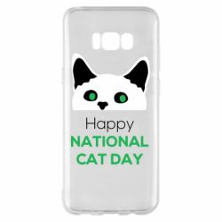 Чехол для Samsung S8+ Happy National Cat Day