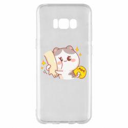 Чохол для Samsung S8+ Кішка тримає руку