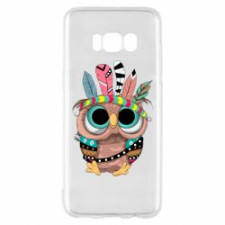 Чохол для Samsung S8 Little owl with feathers