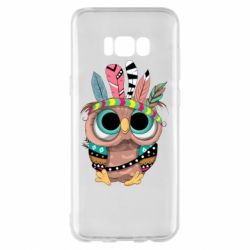 Чохол для Samsung S8+ Little owl with feathers