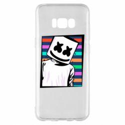 Чехол для Samsung S8+ Marshmello Colorful Portrait